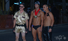 Sean Penn and the guy from Reno 911, Michael Phelps and a dark angel