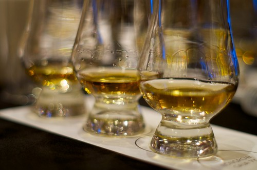 The 'legs' of the whisky