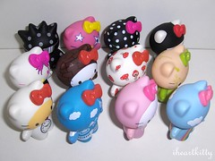 complete set of 12! =^..^= (iheartkitty) Tags: cute cat toys japanese hellokitty urbanoutfitters vinyl kitty sanrio plastic kawaii figures blindbox iheartkitty