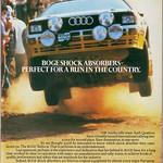 Boge Shock Absorbers / Audi ur-Quattro Advert