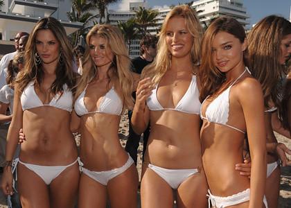 Alessandra Ambrosio, Marisa Miller, Karolina Kurkova and Miranda