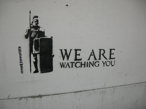 We Are Watching You -  Stencil Braga