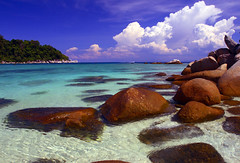 My lagoon (Paul O' Connell) Tags: ocean travel blue sea summer sunlight holiday beach nature water beauty landscape island bay sand rocks solitude paradise alone quiet bright outdoor getaway south tide horizon scenic peaceful lagoon tourist calm palm resort clean clear exotic shore silence malaysia tropical leisure isolation lonely recreation bliss relaxed idyllic perhentian tranquil perfection hideaway pauloconnell wwwpocphotographycom pocphotography