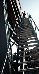 up the stairs - ukaps.org urbex meet (Stu Worrall Photography) Tags: urban photography derelict wirral merseyside urbex stuworrallukapsmeetwallaseydocks ukapsorg