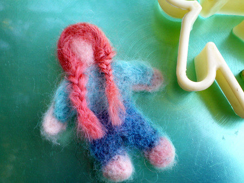 Needlefelted Girl (two)