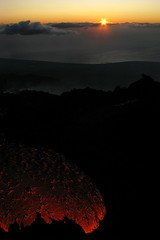 Here comes the sun (Thomas Reichart ) Tags: oktober nature sunrise landscape dawn volcano lava october glow sicily 2008 etna eruption forces vulkan longtimeexposure sizilien lavaflow vulkane glhen ausbruch tna lavastrom balledelbove