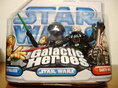 Luke Skywalker and Darth Vader figures (bratislabat) Tags: toy starwars box figure vader darthvader packed darkvador