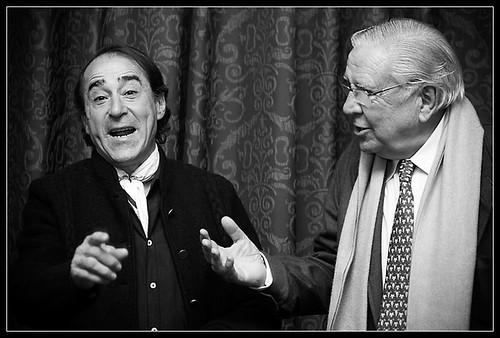 Luis Francisco Esplá con José Antonio Martínez Uranga