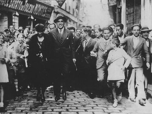 Gregorio Marañón y Madame Herriot en Toledo. 31 de octubre de 1932. Foto Rodríguez.
