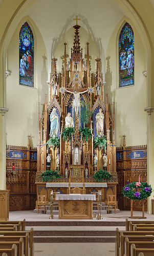 Saint Cecilia Roman Catholic Church, in Bartelso, Illinois, USA - sanctuary