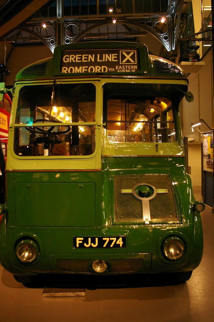 London Transport vintage bus - love its retro future styling