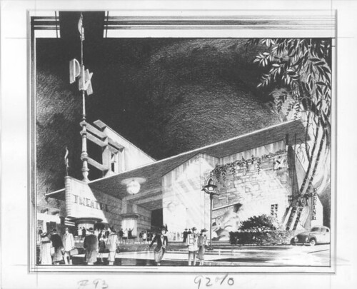 Newsreel Theatre 'Pix' - art deco design drawing