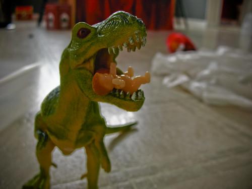 baby jesus + dinosaur