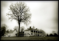Washington's Estate (` Toshio ') Tags: winter blackandwhite bw house cold tree history alexandria architecture virginia washingtondc dc washington districtofcolumbia estate hill wideangle historic capitol historical mansion georgewashington vernon mountvernon mtvernon toshio presidentwashington