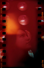 martian child (Celeste) Tags: film girl beautiful 35mm holga malba sprocketholes celesteromero