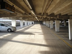 Up and Out (u07ch) Tags: morning light shadow concrete patterns emptycarpark upandout