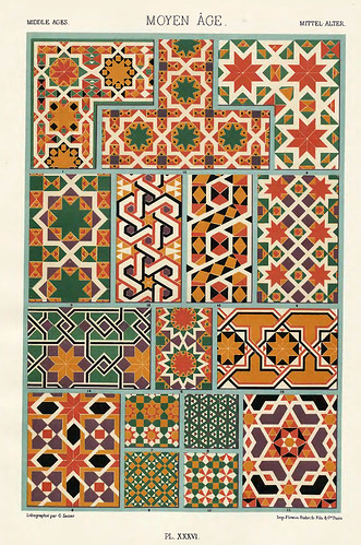 013- Ornamentos policromados Edad Media-Das polychrome Ornament…1875