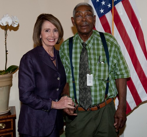 Speaker Nancy Pelosi and Herb Shank