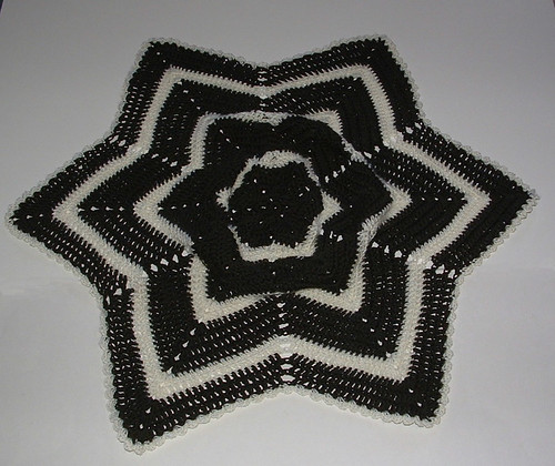 Blocking a Crocheted Round Ripple Afghan