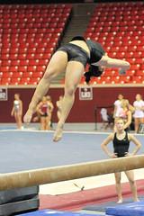 TWU Gymnastics [Beam] Bethany Larimer (Erin Costa) Tags: oklahoma turn dance university texas tx swing norman beam gymnast gymnastics ou balance ok leap tumble meet twu womans compete dismount