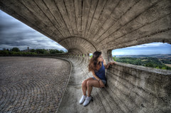 Windows on Umbria (R.o.b.e.r.t.o.) Tags: italy girl model nikon italia sigma pg roberto 1224mm hdr umbria ragazza todi modella collevalenza d700 santuariodellamoremisericordioso architettojuliolafuente