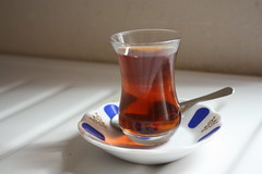 Turkish Tea in a Turkish Tea Glass