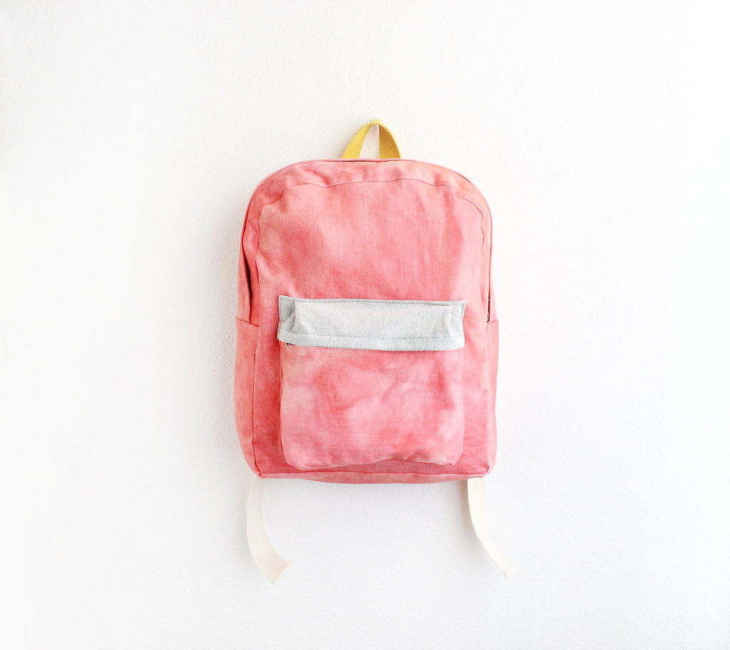 979a10999091 hand dyed fabric. backpack. (vanezia) Tags  coral handmade fabric backpack  dye
