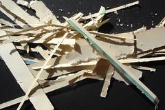 scraps bits of paper