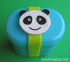 Panda bento belt & 3-tier bento box