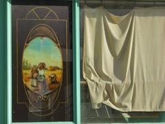 boulangerie fermée (Palagret) Tags: pain curtain harvest bakery rue rideau façade boulangerie banlieue urbex moisson fermé fermeture hibbbiscus