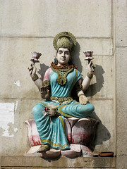 Lakshmi (Gaura) Tags: sculpture india wall lotus lakshmi goddess carving deity laksmi bassrelief goddessoffortune goddessofwealth