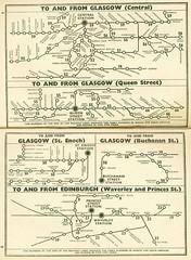 Photo of Maps from the 1954-1955 British Railways (Scottish Region) Timetable