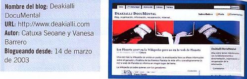 Deakialli en La Gran Guía de los blogs 2008