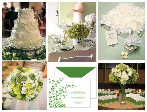 2333455667 8ef90cac34 141 ideias de casamento verde e branco