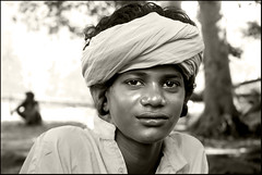 Dharam Nath (Elishams) Tags: portrait blackandwhite bw india indian young uttaranchal soe sadhu nath haridwar