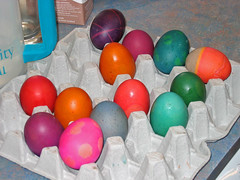 Colored Brown Eggs
