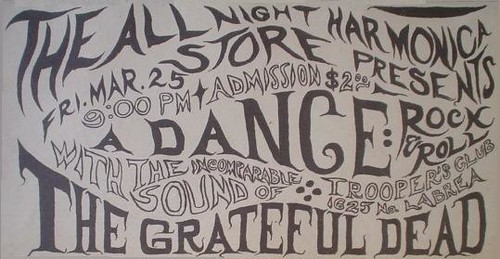 Grateful Dead 3/25/66 Trouper's Hall or Trooper's Hall or Trouper's Club or Trouper's Club... one of those is correct.