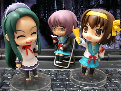 Nendoroid - Haruhi, Nagato, Tsuruya-san