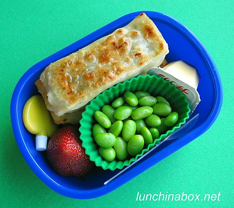 Korean mandu bento lunch for preschooler