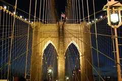 Brooklyn bridge in the night