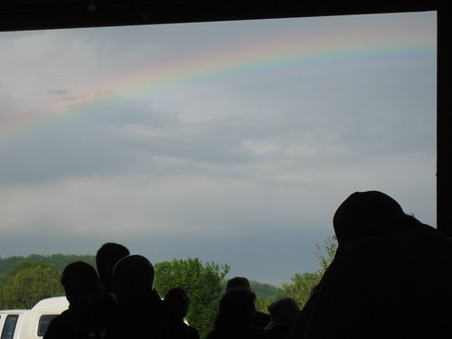 Ted and Martha's 50th wedding anniversary party at the farm - Beautiful rainbow