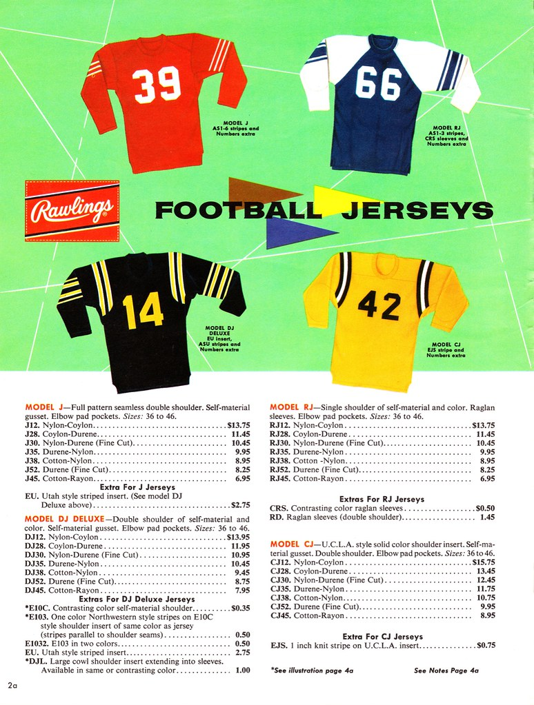 5a12f6d78b1 ... at upper-right is unusual — you don't normally see a raglan-sleeved  football shirt) and here (love the repeating stripes on the green and black  models).