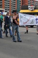 Leather Cowboy (brentus69) Tags: gay leather cowboy edmonton basket alberta torn stud bulge gayprideparade tornjeans