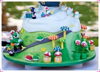 Gâteau de mariage Super Mario (incomplet)