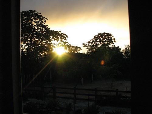 O sol chegou...
