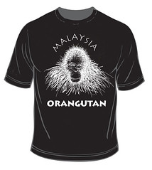 ORANGUTAN MALAYSIAN t shirt orangutan by 'DANVILLAGE' The Art Of AnuarDan
