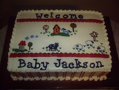 Baby Gap Barnyard Baby Shower Cake
