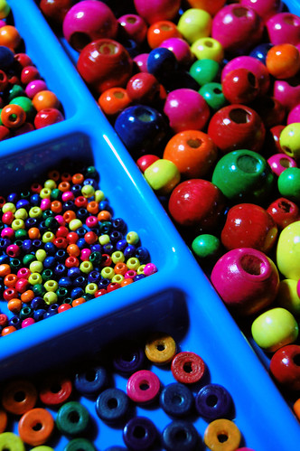 colorful beads on display