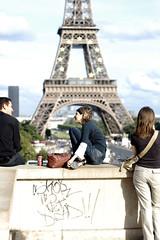 tour eiffel - again (marcin w!) Tags: paris girl tag eiffeltower eiffel toureiffel overexposed trocadero helios tourmontparnasse pary wiea helios81h