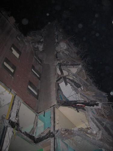 Demolished east wing